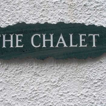 the chalet sign