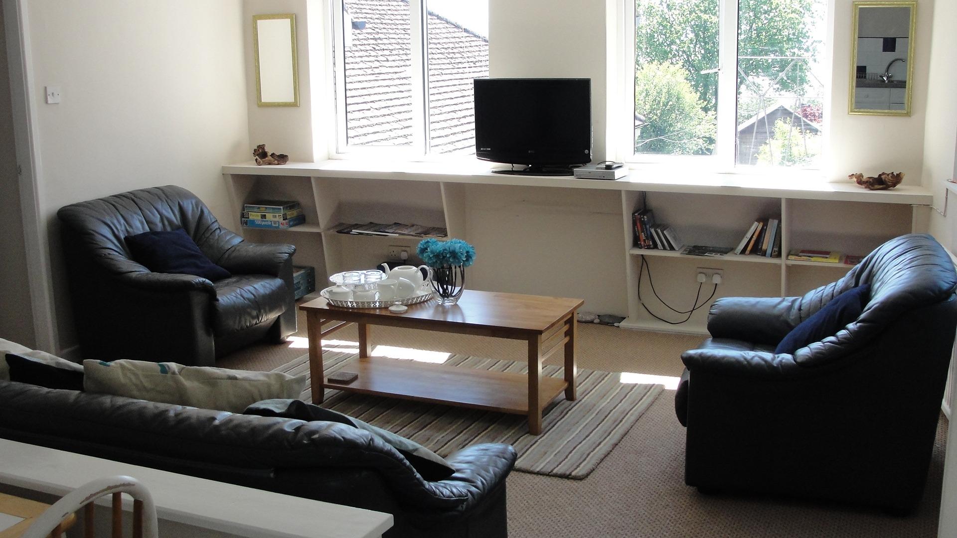 chalet studio flat lounge area