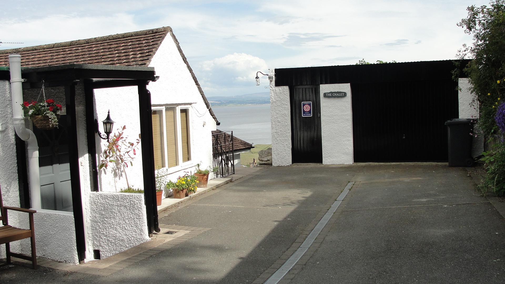 Chalet private drive and parking area